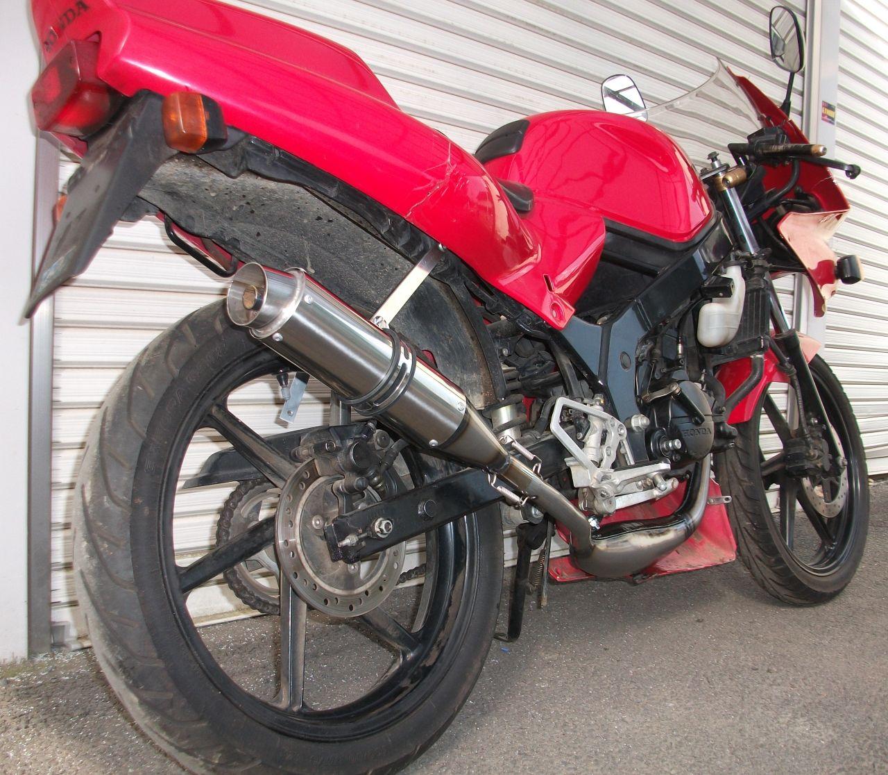 【Racing Shop Yokota】RZ50 街頭賽車俱樂部 80Ф不銹鋼 膨脹室排氣管