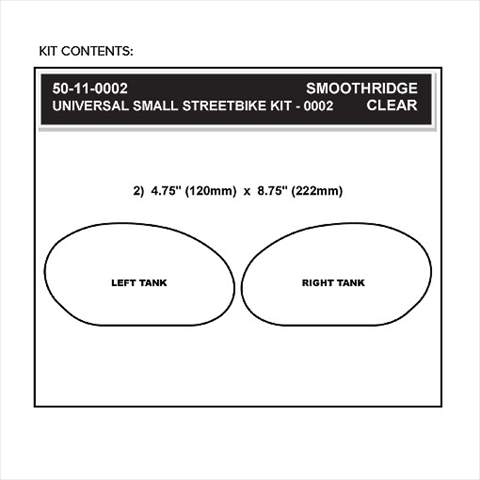 【STOMPGRIP】59-10003B 通用型 楕圓型油箱止滑貼
