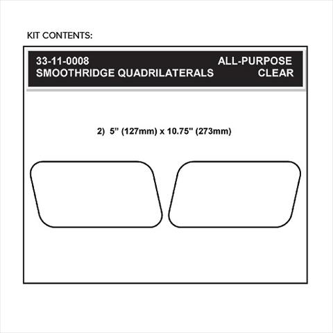 【STOMPGRIP】59-10004B 通用型 四邊型油箱止滑貼