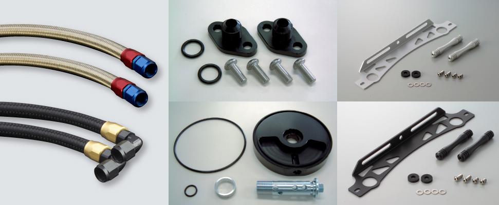 【EARLS】【圓形機油冷卻器套件維修用】 油管組