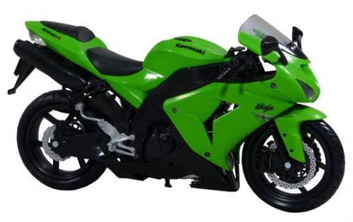 【青島文化教材社】[完成品摩托車模型] 1/12比例 Kawasaki ZX-10R