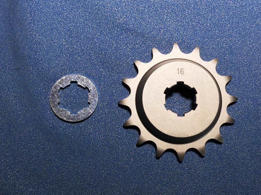 【MIZUNO】【Zeth】 RZ250/350用 520鏈條用 偏移型前齒盤 13mm
