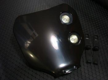 MotoCross 頭燈整流罩 編號整流罩【黑色】