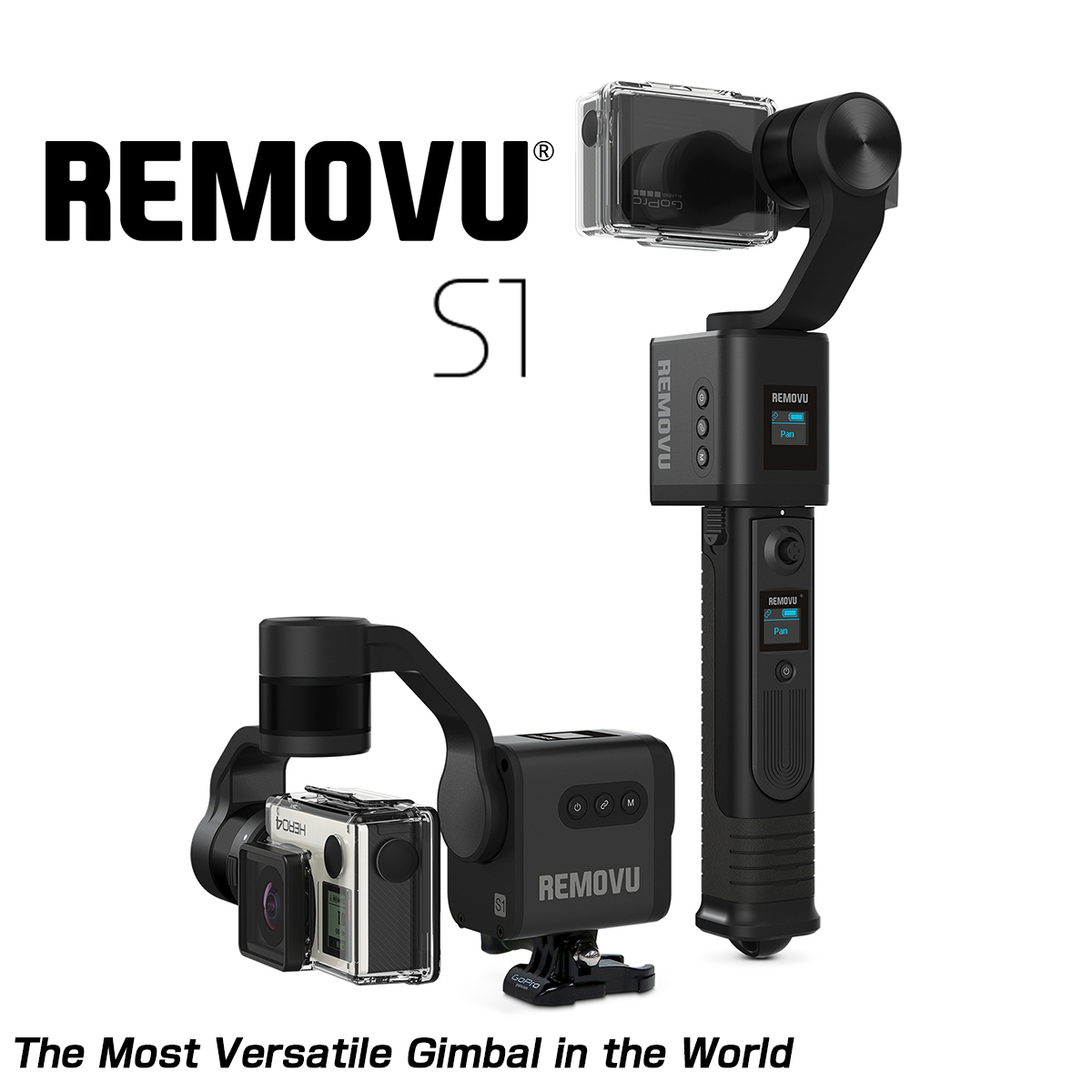 【MOTO禅】REMOVU S1 智能方向支架 GoPro相機/Sony相機/iPhone用