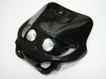 MotoCross 頭燈整流罩  水平型 Type4  (黑色)