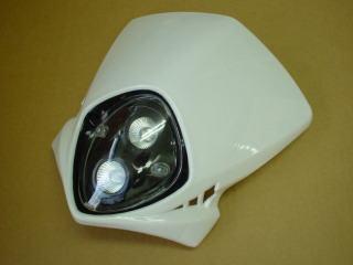 MotoCross 頭燈整流罩  垂直型 Type1  (白色)