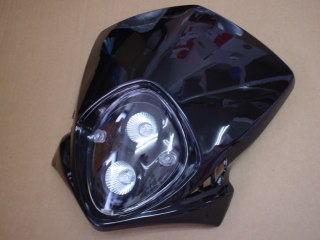 MotoCross 頭燈整流罩  垂直型 Type2  (黑色)