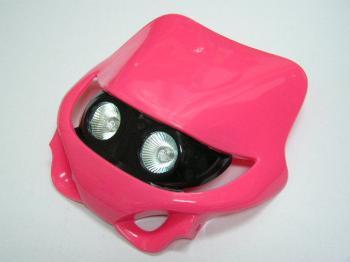 MotoCross 頭燈整流罩  水平型 Type9  (粉紅色)