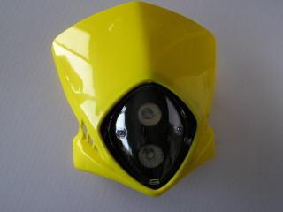 MotoCross 頭燈整流罩  (垂直型/雙燈/黃色)