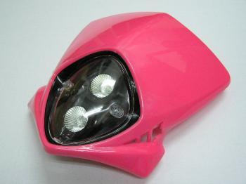 【KN企劃】MotoCross 頭燈整流罩  (垂直型/雙燈)【粉紅色】 - 「Webike-摩托百貨」