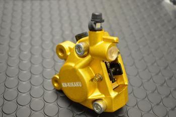 2POT 鋁合金切削加工 對向煞車卡鉗  (鑄造金色)