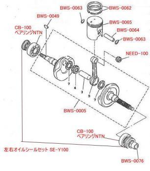 【KN企劃】曲軸 軸承  (NTN 1個)