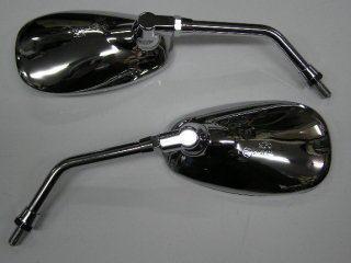 橢圓型 後視鏡 (電鍍/10mm 反牙)