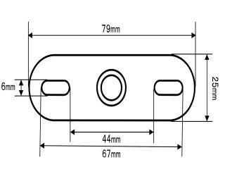 後視鏡固定座 (L尺寸/BA34-L)