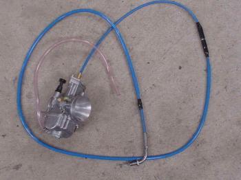 【KN企劃】加大化油器用 油門線 (藍色)