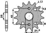 【PBR】PBR 16齒前齒盤/ 530鏈條/ Kawasaki ZZ-R600