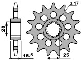 【PBR】PBR 17齒鋼製標準型前齒盤/ 520鏈條