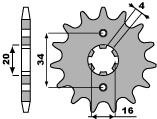 【PBR】PBR 15齒鋼製前齒盤/ 525鏈條