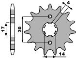 【PBR】PBR 13齒前齒盤/ 420鏈條/ Kawasaki KLX110