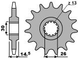 【PBR】PBR 15齒前齒盤/ 630鏈條/ Honda CB750KZ, FZ