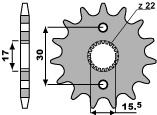 【PBR】PBR 14齒鋼製前齒盤/ 420鏈條