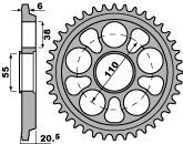 【PBR】ACB 39齒鋼製後齒盤/ 520鏈條/ Ducati 748 520