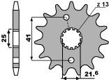 【PBR】ACB 14齒鋼製前齒盤/ 520鏈條
