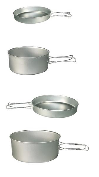 【belmont】鈦合金炊具4個組套L