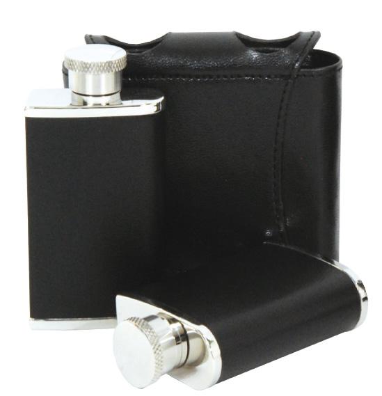 【belmont】Skittle 不銹鋼 雙酒壺(黑)2oz×2