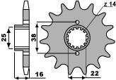 【PBR】PBR 13齒前齒盤/ 520鏈條/ Ducati 748
