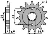 【PBR】PBR 16齒鋼製前齒盤/ 520鏈條