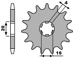 【PBR】ACB 13齒前齒盤/ 420鏈條/ Kawasaki KX60/65