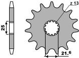 【PBR】PBR 14齒前齒盤/ 525鏈條/ Suzuki SV650N
