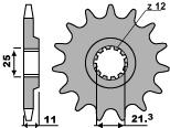 【PBR】PBR 12齒鋼製前齒盤/ 520鏈條