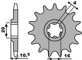 【PBR】ACB 12齒鋼製前齒盤/ 520鏈條