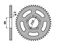 【PBR】ACB 46齒鋼製後齒盤/ 420鏈條/ KTM SX60 / 65