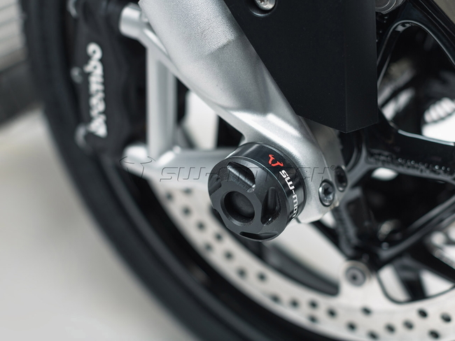【SW-MOTECH】前輪軸保護滑塊 (防倒球)套件 (Front Axle Slider Kit)■