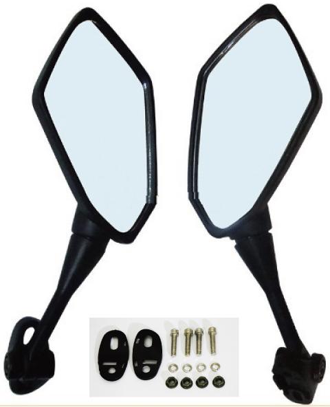【MADMAX】摩托車用整流罩後視鏡 方形
