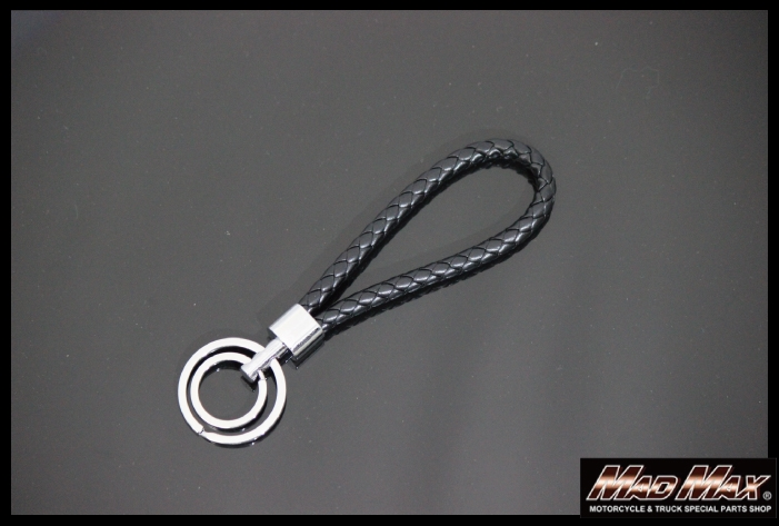 雙鑰匙圈編織繩帶