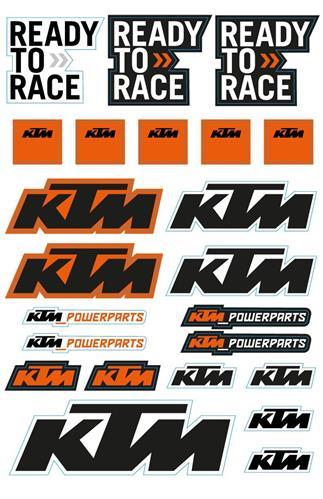 【KTM POWER PARTS】sheet 貼紙套件