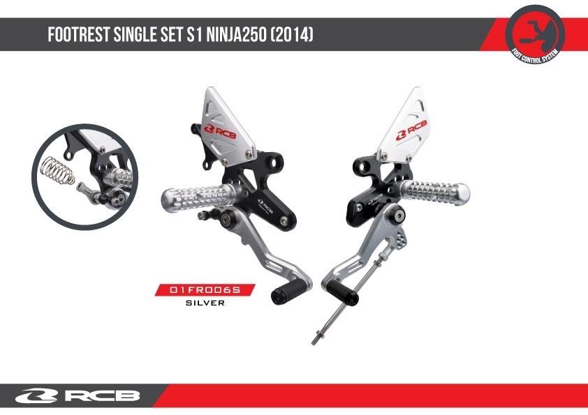 【RACINGBOY】NINJA250專用 調整型腳踏組