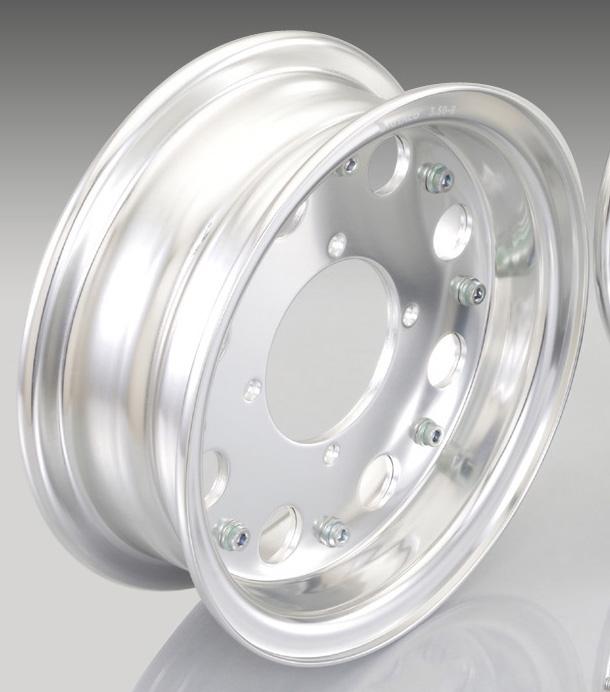 【KITACO】8吋 鋁合金輪框 半個組 (標準)