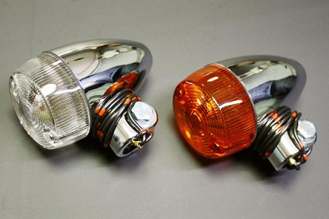 砲彈型 方向燈 (橙色/電鍍)