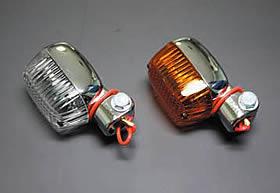 方型迷你方向燈 (橙色/電鍍)
