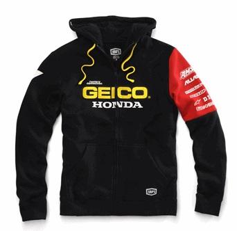 【100%】【連帽外套】GEICO×HONDA FACTORY