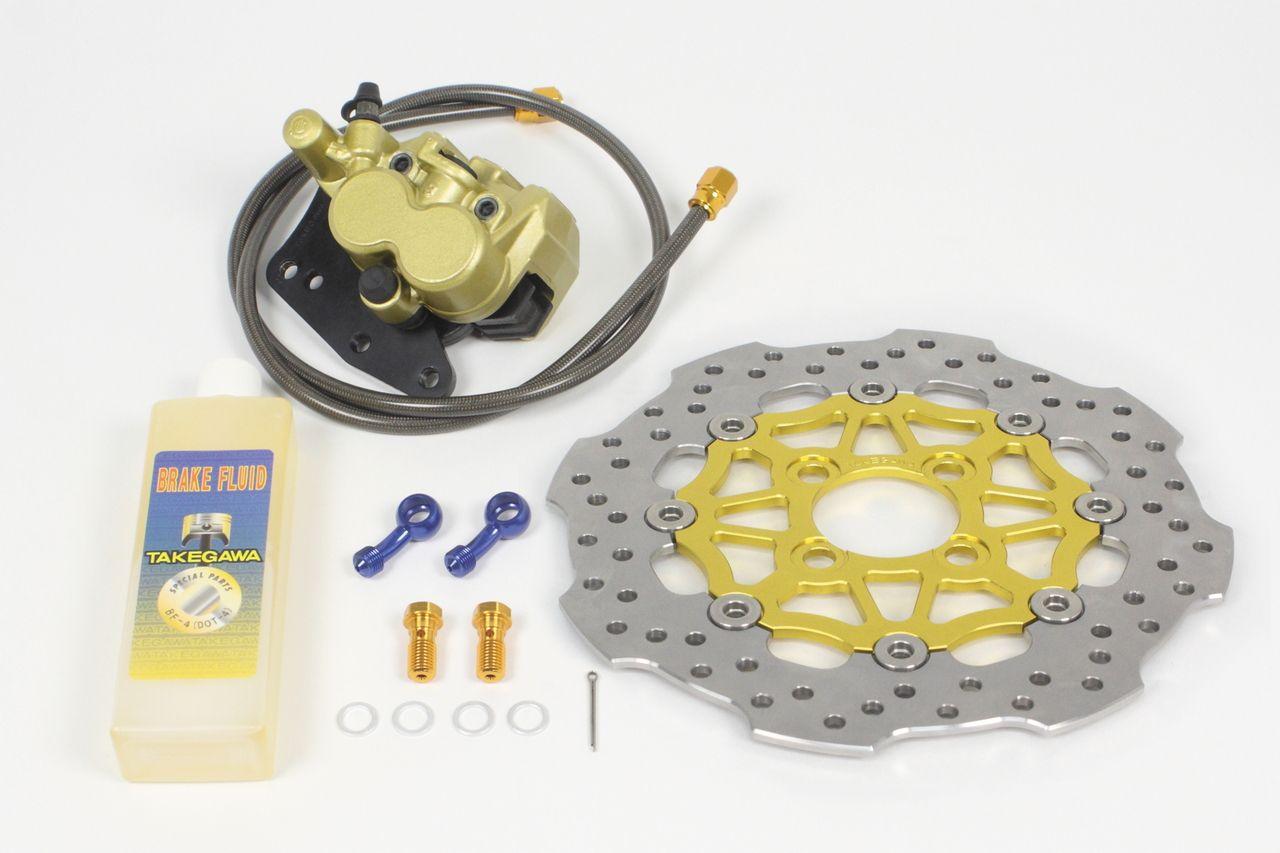 【SP武川】大型浮動式煞車碟盤套件 (浪花型)