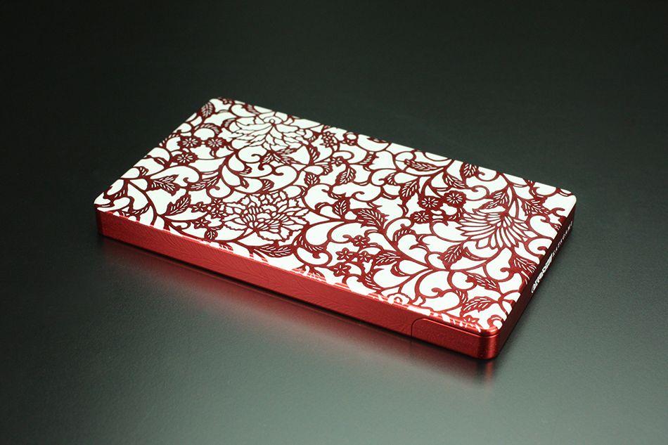 硬質鋁合金切削加工名片夾 OKOSHI-KATAGAMI 「藤蔓花紋」