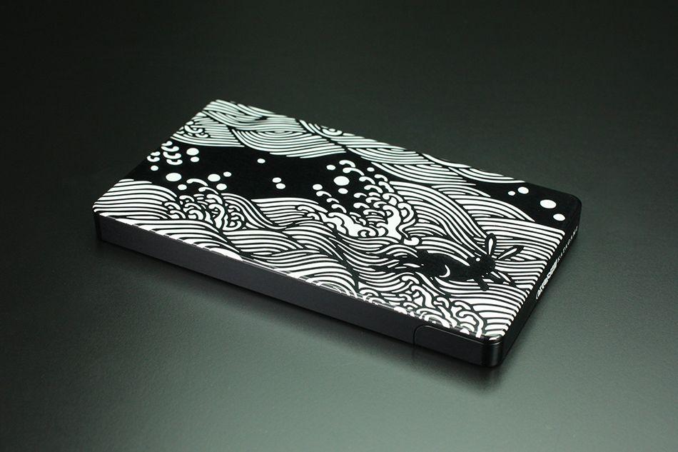 硬質鋁合金切削加工名片夾 OKOSHI-KATAGAMI 「海浪兔」