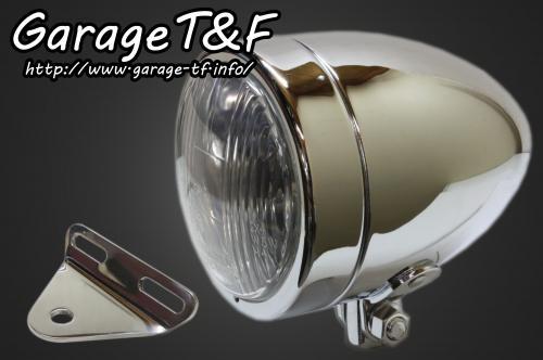 【Garage T&F】4吋 Slim 型頭燈(Long)&頭燈支架套件 (Type A) - 「Webike-摩托百貨」
