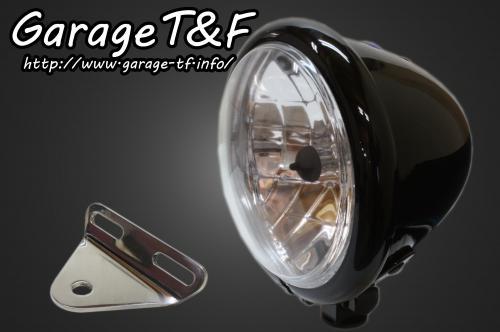 【Garage T&F】4.5吋 Bates 型頭燈&頭燈支架套件 (Type A) - 「Webike-摩托百貨」